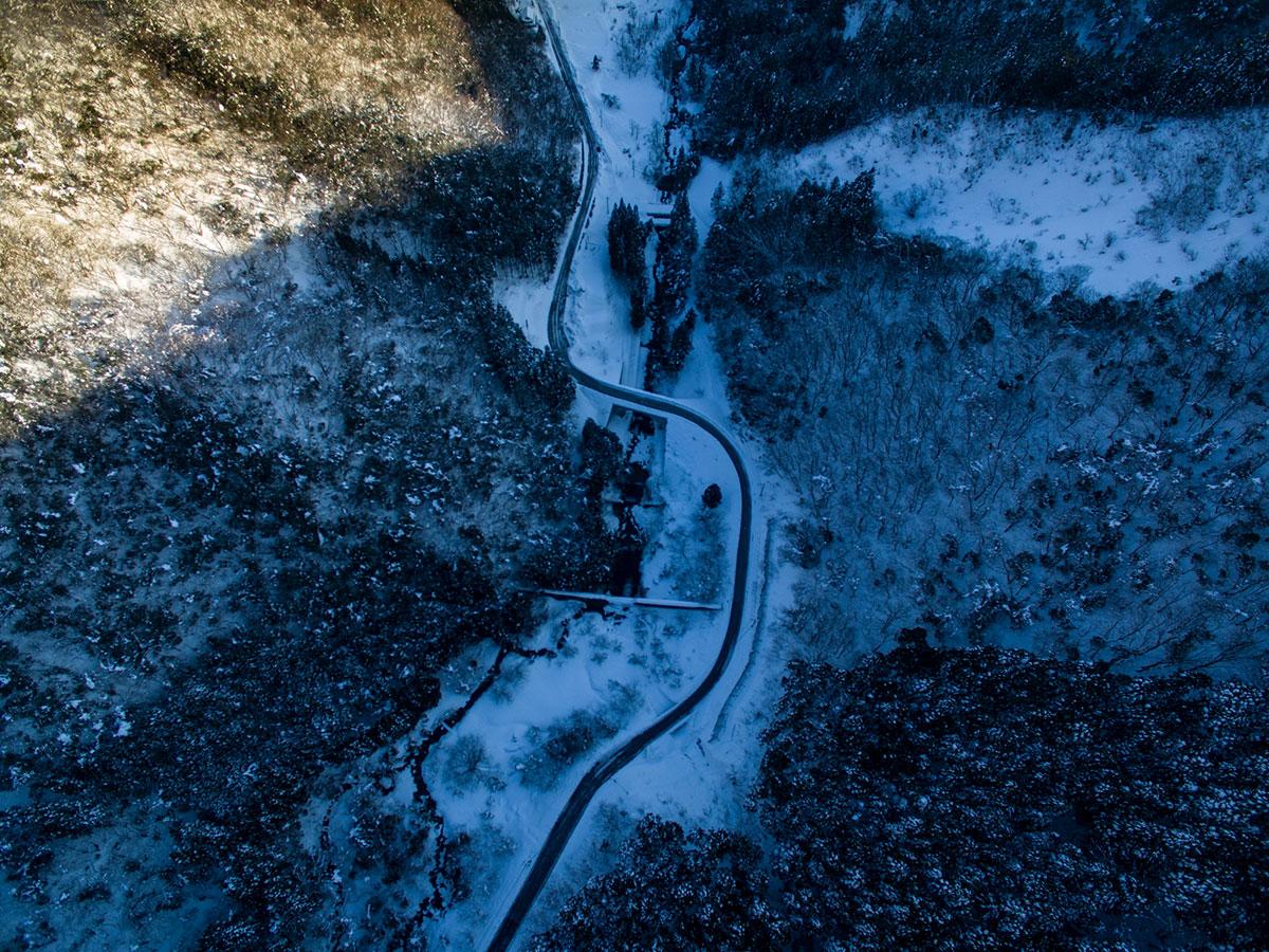 畳山の谷底