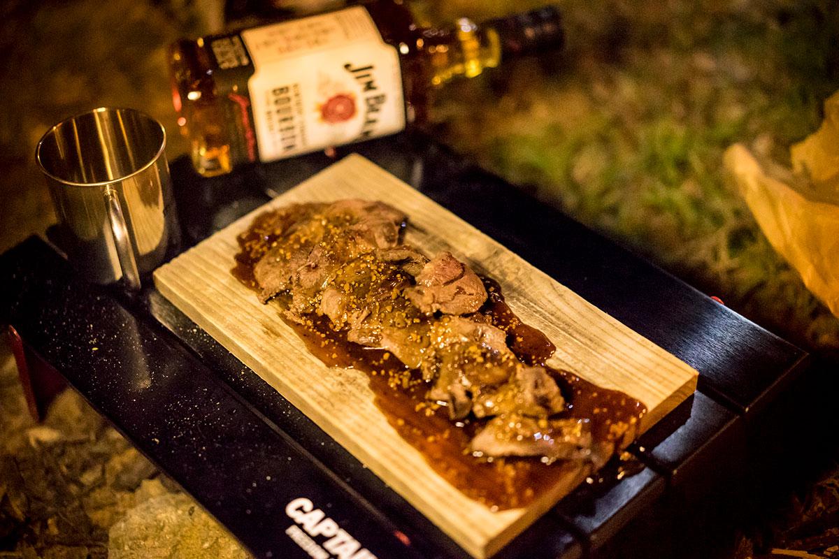 鹿のランプのステーキ