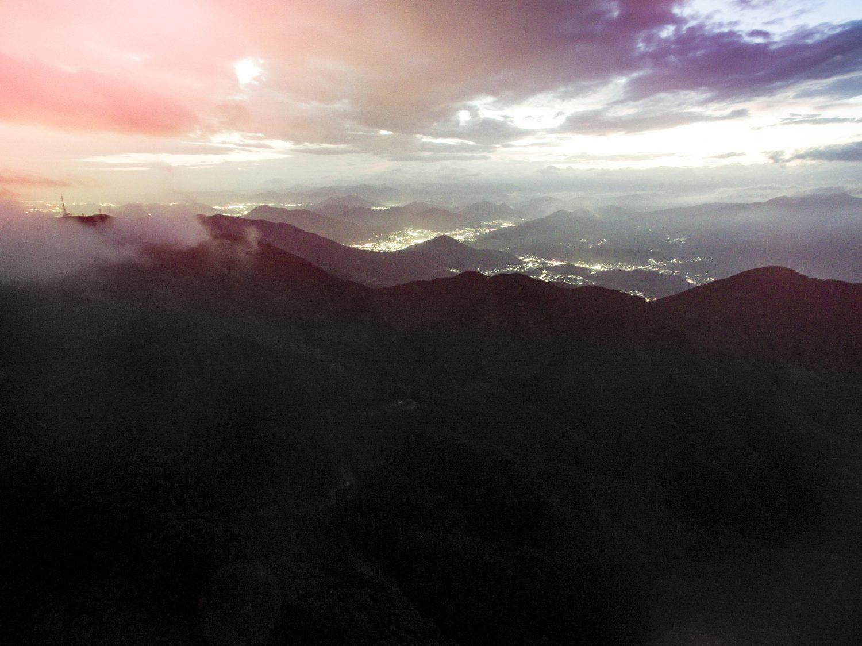 白木山からドローンで広島市街地方面を撮影
