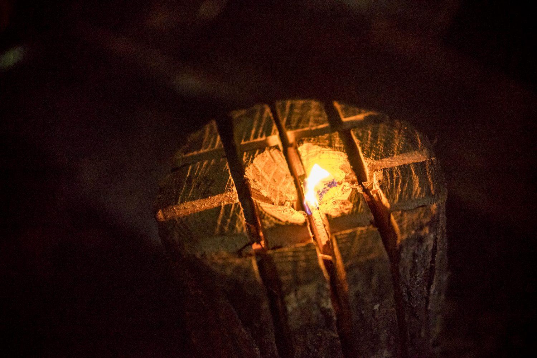 綺麗な焚き火