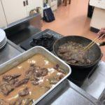 健康教室にイノシシ肉料理担当で行ってきました。