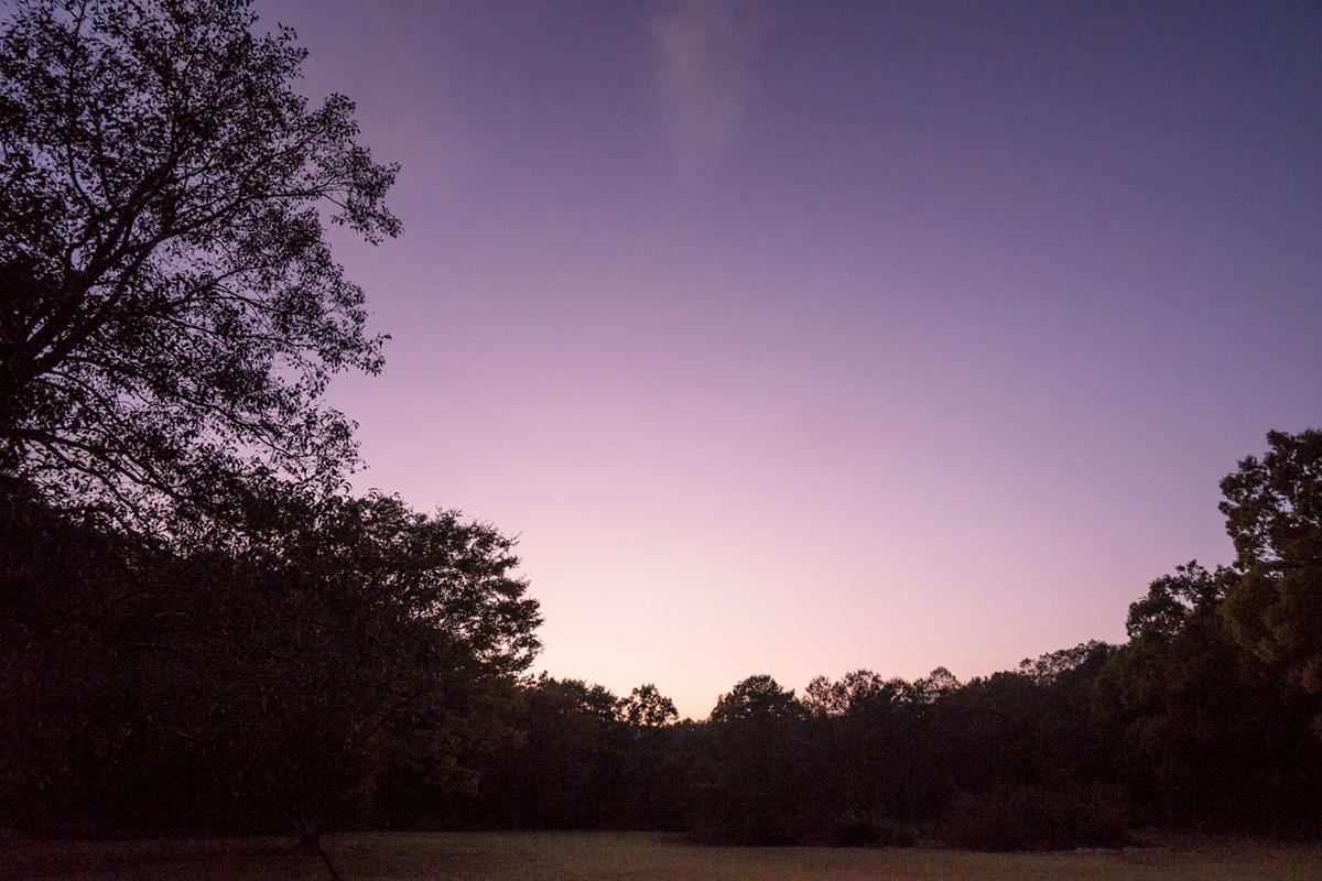 夕暮れの二川(ふたごう)キャンプ場