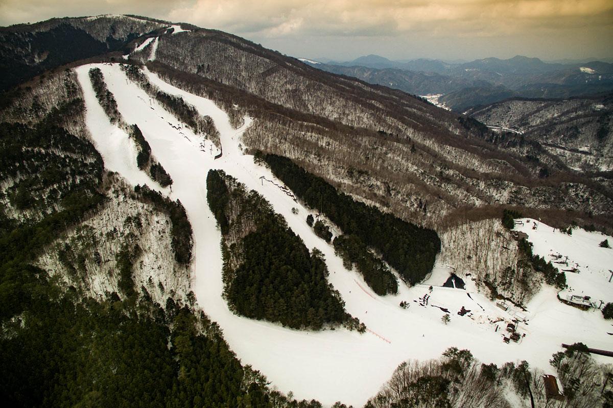 里見尾根コース、大佐スキー場