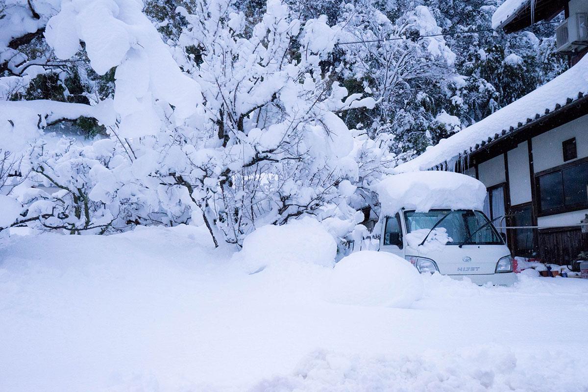 豪雪の邑南町