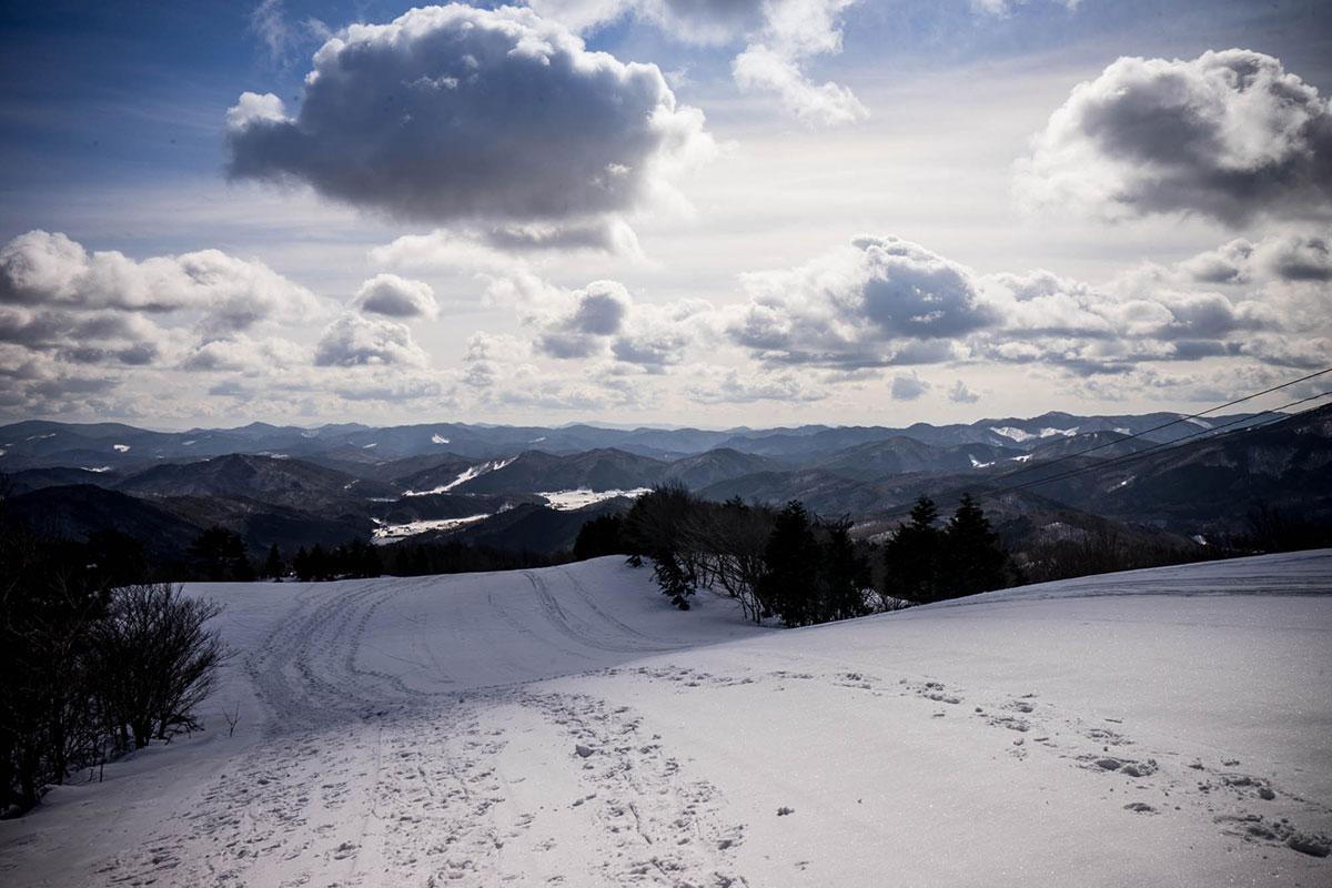 圧雪された里見尾根コース