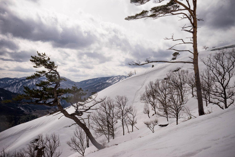 深入山から見た恐羅漢スキー場