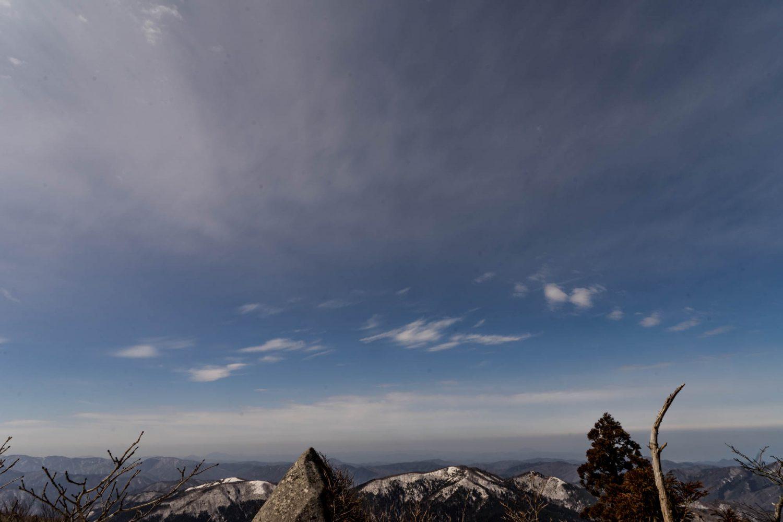旧羅漢山山頂からの風景