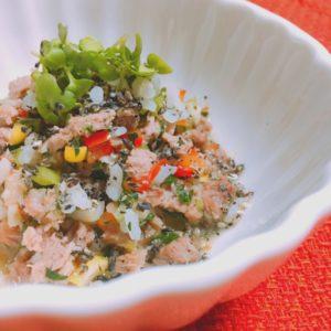猪肉と野菜のチャーハン