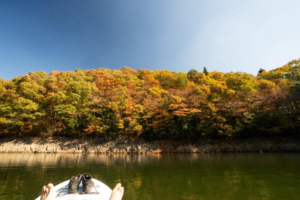 北広島町の聖湖でサップを堪能