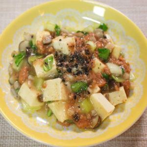 鹿肉ウェットフードを使用した麻婆豆腐