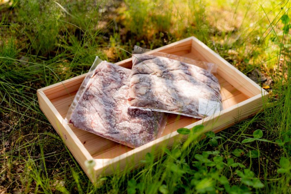 ペット用の鹿肉と猪肉セット