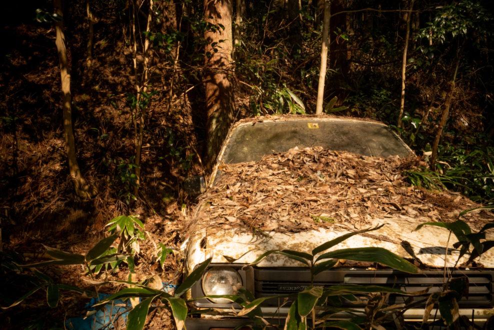 山裾にあった先人の廃車