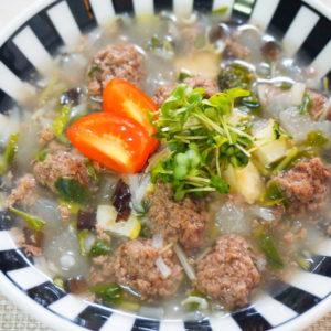 鹿団子と冬瓜のスープ