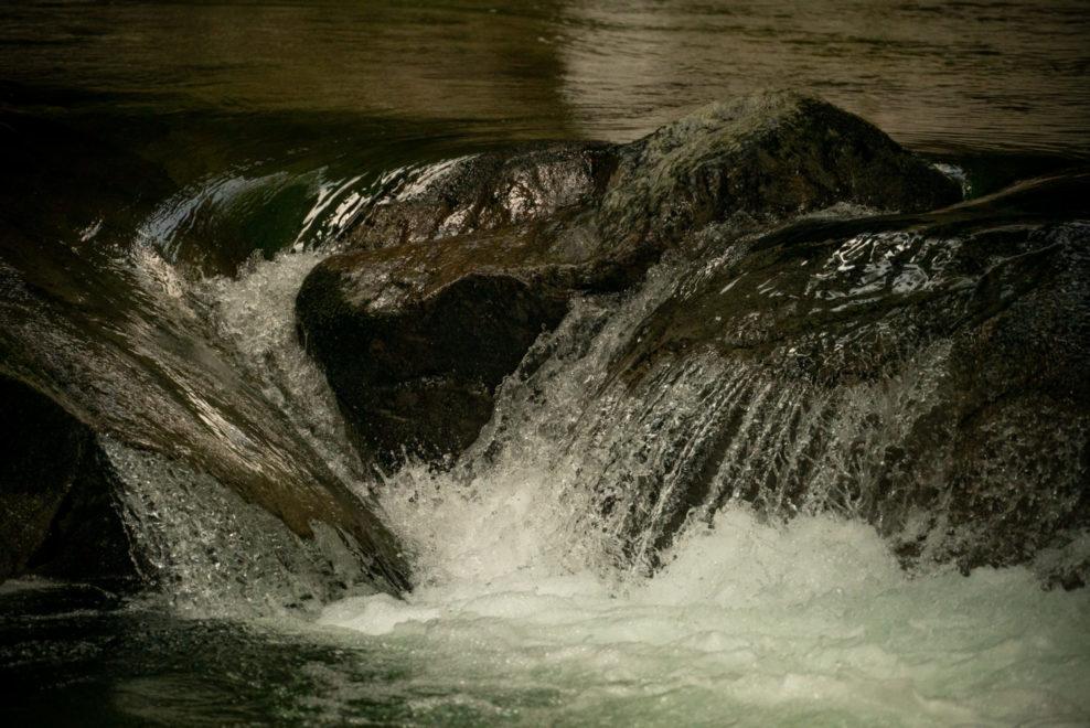 水量の豊富な三段峡