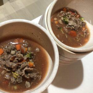 簡単鹿肉のトマトジュース煮(腎臓入り)