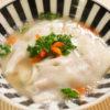 鹿肉の水餃子スープ