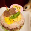 猪肉でひな祭りごはんケーキ