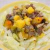 鹿肉と安納芋のほっくりサラダ