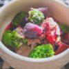 紫芋とビーツの簡単スープ