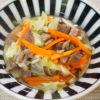 猪肉の出汁がうまし♪ざく切りキャベツのスープ